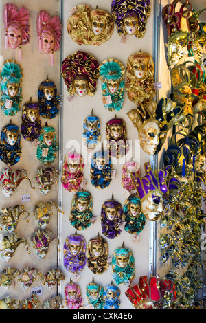 Venetian masks for sale in Venice, Italy - Stock Photo