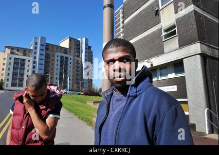 Young Unemployed Youth Leeds UK - Stock Photo