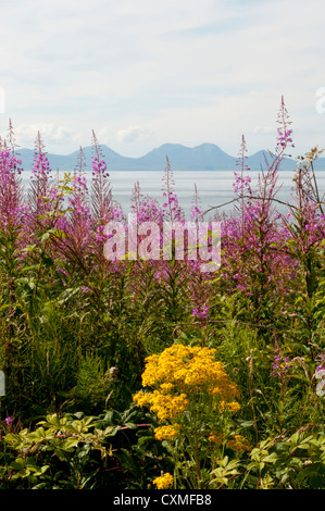 The Paps of Jura seen from the West Coast of Kintyre - Stock Photo