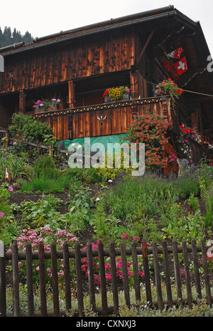 Typical Swiss Style House In Serneus Near Klosters In Graubunden Stock Photo Royalty Free Image