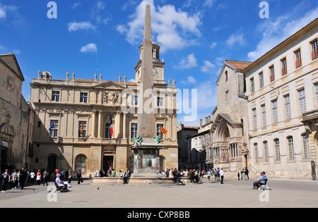 Place de la Republique, Arles, Provence, France - Stock Photo
