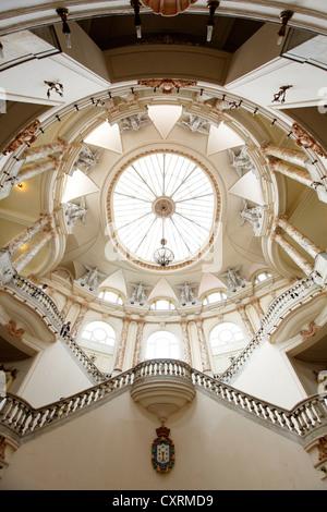 Gran Teatro de la Habana, staircase with magnificent dome, Villa San Cristobal de La Habana, old town, La Habana, - Stock Photo