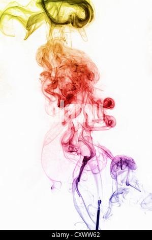 Pattern of smoke turbulence - Stock Photo