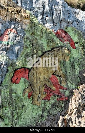 Prehistoric artist stock photo royalty free image for Mural de la prehistoria