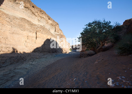 sesriem valley in Namib-Naukluft Park, Namibia - Stock Photo