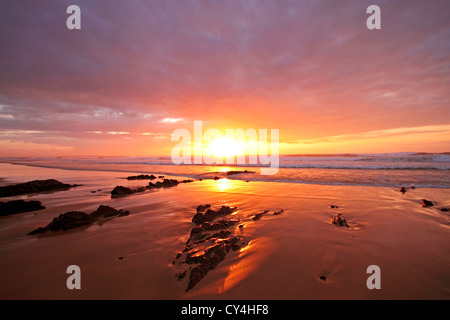 Sunset on Vale Figuiras in Portugal - Stock Photo