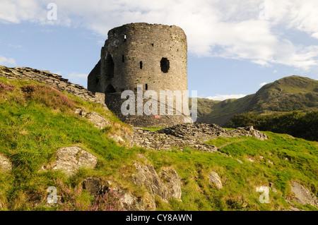 Dolbadarn Castle Llanberis Gwynedd Wales Cymru UK GB - Stock Photo