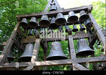 Honfleur Normandy France the bells of Notre Dame de Grace Chapel - Stock Photo