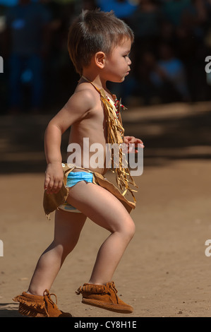 Chumash native American toddler - Stock Photo
