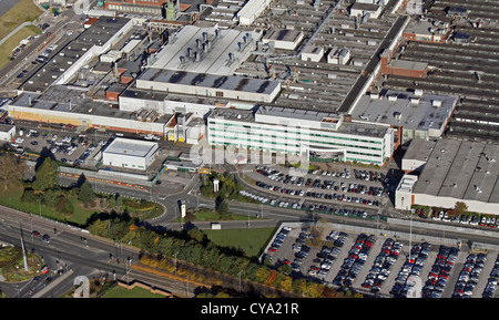 Jaguar Speke Aerial View Of Jaguar Car S Halewood Plant At