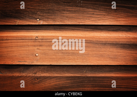 Old wooden planks on the side of a shack. - Stockfoto