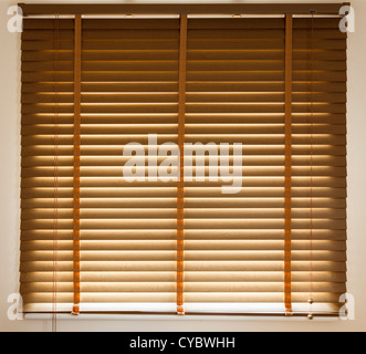 Venetian blinds closed - Stock Photo