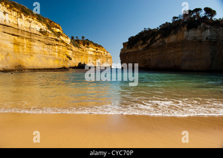 Loch Ard Gorge on the Great Ocean Road, Australia, near the Twelve Apostles - Stock Photo