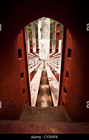 Ancient architecture.detail. Jantar Mantar astronomical observatory in Delhi, India - Stock Photo