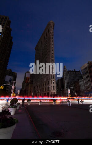 New York USA. November 1st 2012. Looking South on Broadway and 23rd Street in the Chelsea neighborhood of New York - Stock Photo