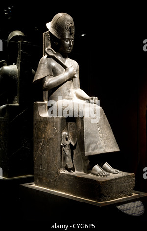 Turin - Egyptian Museum / diorite statue of King Ramesses II [1279-1213BC] - Stock Photo