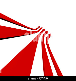 Group Of Arrows Pointing Up With Blank Copyspace Shows Progress Or Improvement - Stock Photo