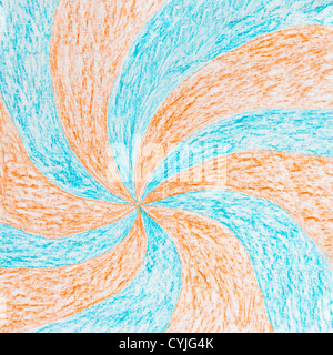 painted on paper crayon background - Stock Photo