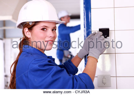Job training for electrical installation on a switchboard ...