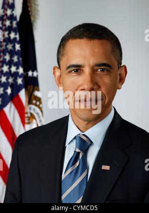 BARACK OBAMA  US President in 2009 - Stock Photo