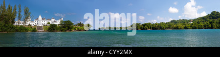 Trident Castle, Port Antonio, Jamaica West Indies - Stock Photo