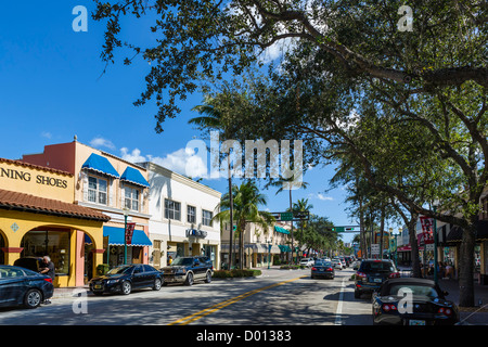 Shops And Restaurants On Atlantic Avenue In Historic Downtown Delray Stock Photo Royalty Free