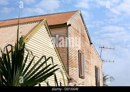 Corrugated iron building. Broome, Western Australia.  - Stock Photo