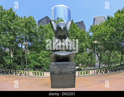 The East Coast World War II Memorial Battery Park New York City - Stock Photo