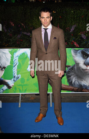 Chris Pine London - UK Premiere of 'Rise of the Guardians' at the Empire, Leicester Square, London - 15th November - Stock Photo
