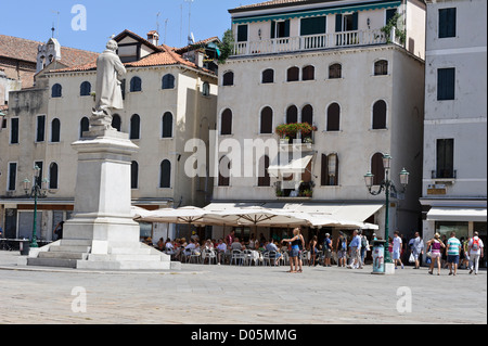 Campo San Stefano Piazza, Venice, Italy. - Stock Photo