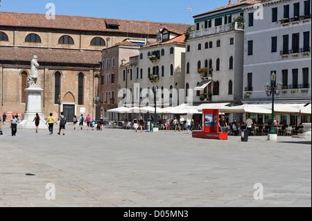 Campo San Stefano Piazza, Venice, Italy. - Stock Photo