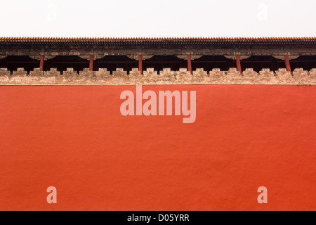 High wall around Forbidden City (Zijin Cheng), Beijing, China - Stock Photo