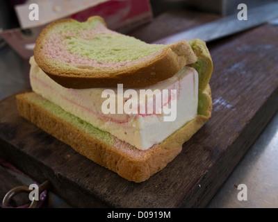 Ice Cream Sandwich - A Singapore - Stock Photo