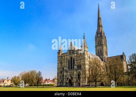 Salisbury Cathedral, South England - Stock Photo
