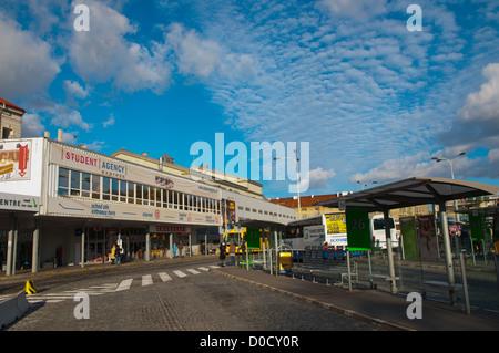 Florenc autobusove nadrazi the main long distance bus station Karlin district Prague Czech Republic Europe - Stock Photo