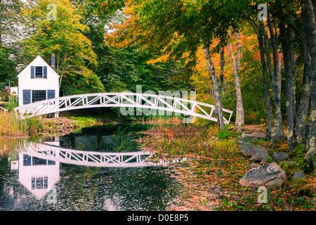 Somesville bridge in Acadia N.P, Maine, USA - Stock Photo