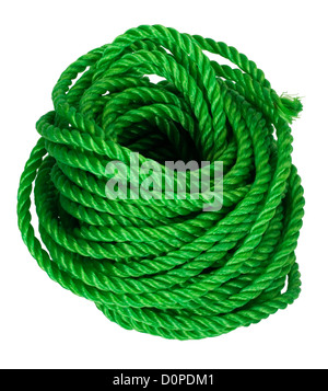 Close-up of a bundle of plastic rope - Stock Photo