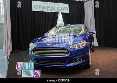 Los Angeles, USA. 29th November 2012. The all-new 2013 Ford Fusion has been named Green Car Journal's 2013 Green - Stock Photo
