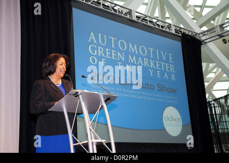 Los Angeles, USA. 29th November 2012. Councilwoman Jan Perry. The all-new 2013 Ford Fusion has been named Green - Stock Photo