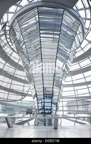 Reichstag Dome, Berlin modern achitecture of the government building - Stock Photo