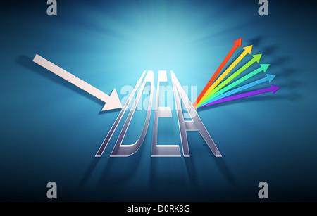 Conceptual prism illustration - Stockfoto