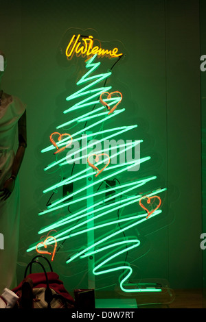 Christmas Tree Decorations In A Shop Display Stock Photo