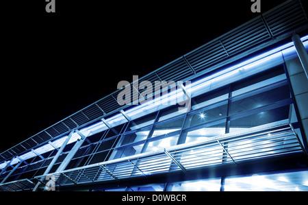 office facade at night - Stock Photo