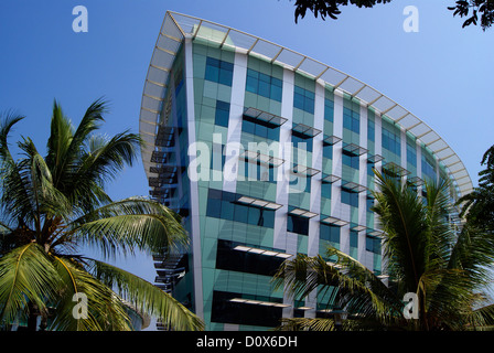 Infosys IT campus Building in Trivandrum at Kerala India on Ship Shaped Construction Structure - Stock Photo