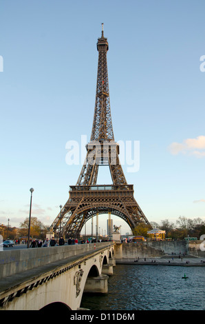 The Eiffel tower in Paris, Trocadero, France. - Stock Photo