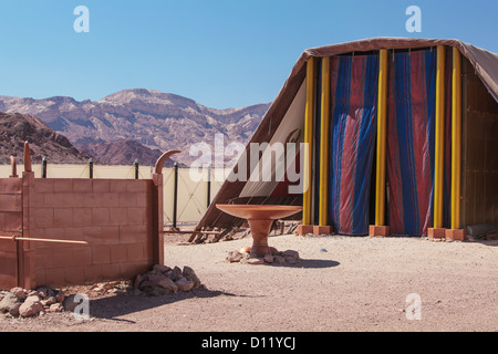 replica of the tent of meeting and the brazen altar timna