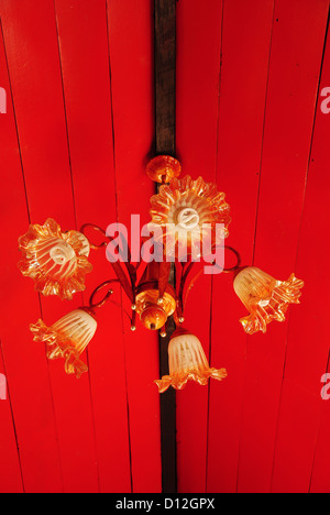 Colorful arabic lamp. Ceiling light - Stock Photo