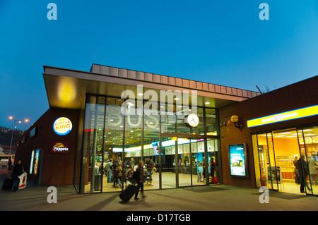 Autobuseve nadrazi the Main long distance bus station Florenc central Prague Czech Republic Europe - Stock Photo