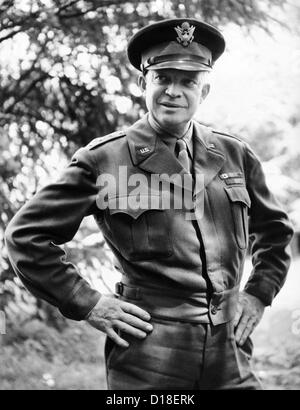 General Dwight Eisenhower, Supreme Commander, Allied Forces during World War II. Since the successful D-Day invasion, - Stock Photo