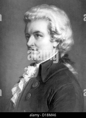 Mozart, Composer Wolfgang Amadeus Mozart - Stock Photo